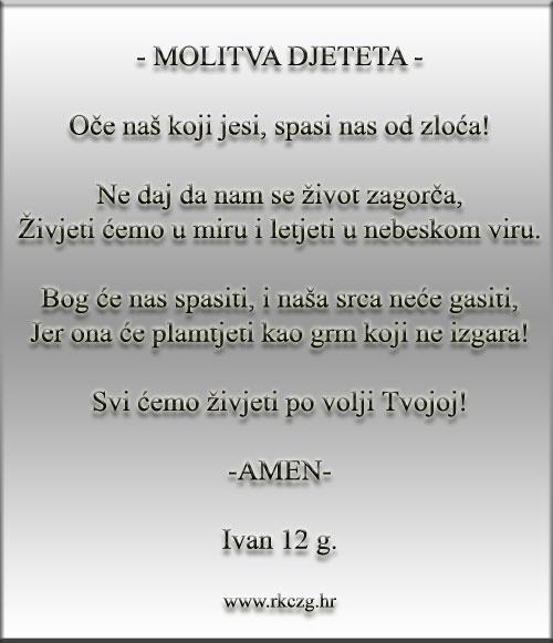 Molitva djeteta
