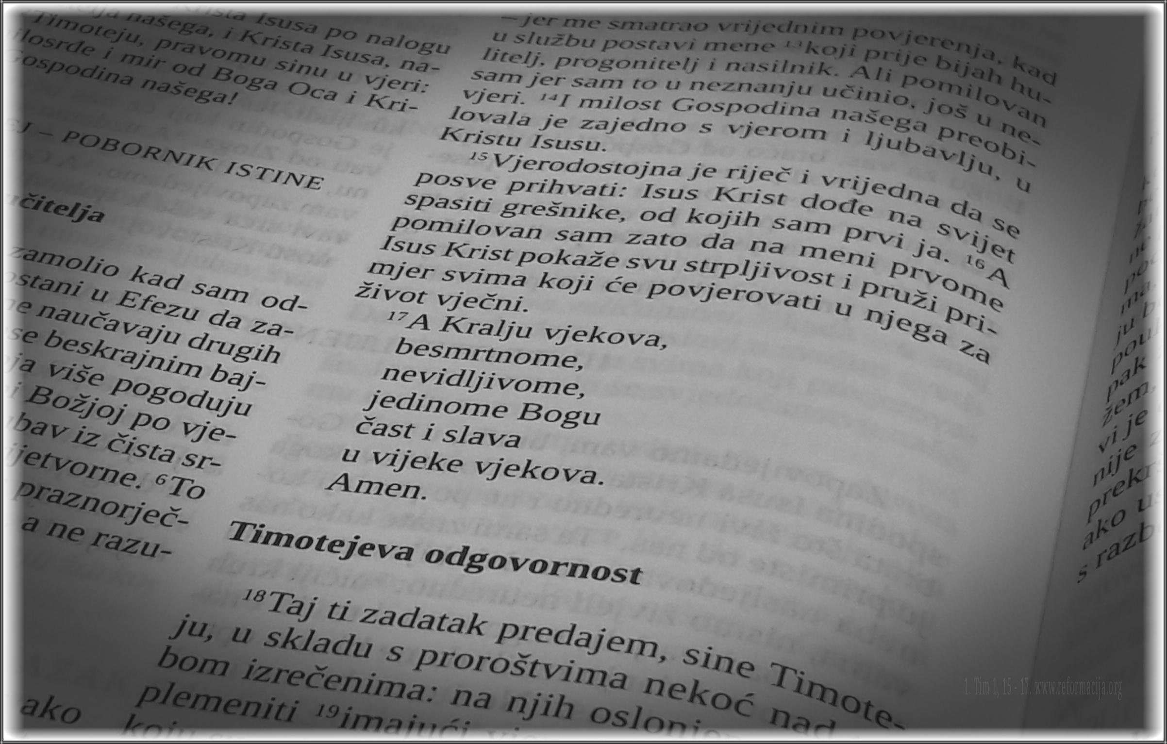 1. Timoteju 1, 17.